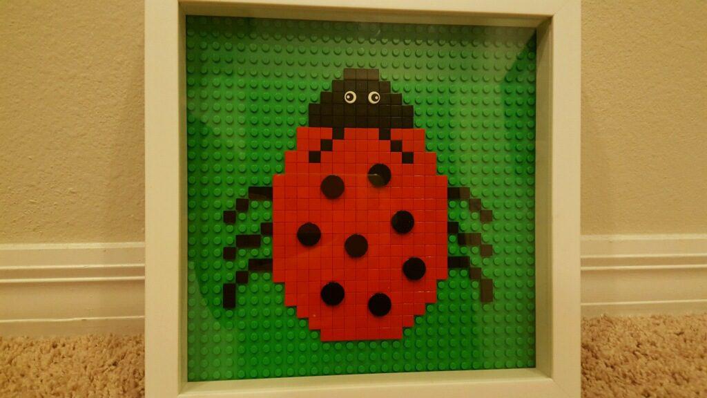 LEGO ladybug mosaic